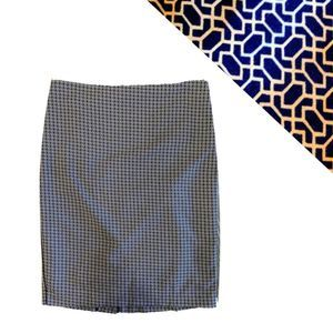 Adrianna Papell Blue White Pencil Skirt 6 Medium